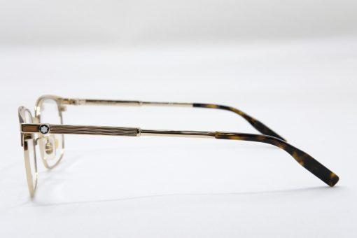 Gọng kính Montblanc Rectangular Matte Brown/Gold/Havana Eyeglasses MB0083OK
