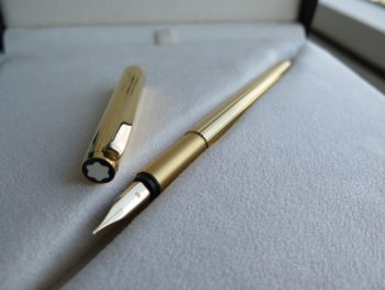 IMG 2429 350x263 - Bút Montblanc Noblesse Gold Plate Fountain Pen