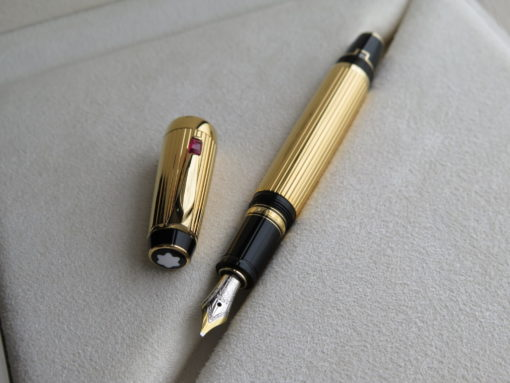 Bút Montblanc Boheme Gold Plated Rouge Fountain Pen - IMG 1152 510x383
