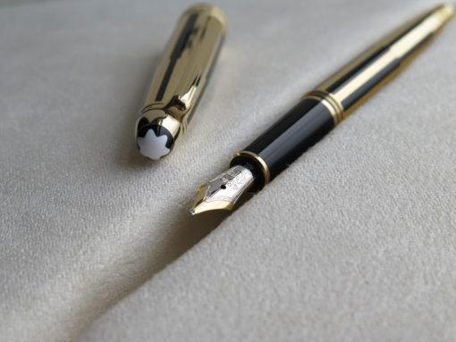 Bút Montblanc Meisterstuck Solitaire Gold & Black Fountain Pen - IMG 1168 510x383