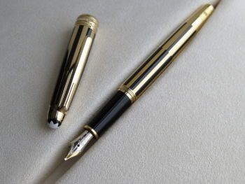 Bút Montblanc Meisterstuck Solitaire Gold & Black Fountain Pen - IMG 1169 350x263