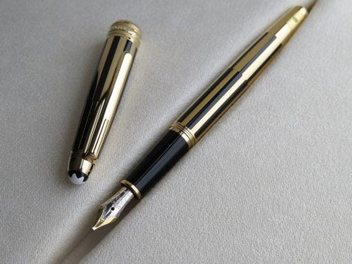 Bút Montblanc Meisterstuck Solitaire Gold & Black Fountain Pen - IMG 1169 510x383