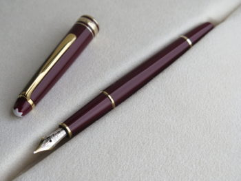 IMG 4126 350x263 - Bút Montblanc Meisterstuck 144 Burgundy Fountain Pen