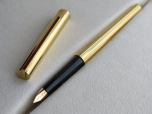Bút S.T Dupont Gold Plated Fountain Pen - IMG 4079 510x383
