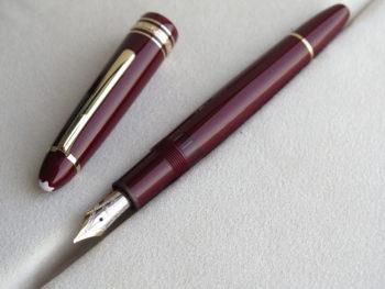 IMG 5794 350x263 - Bút Montblanc Meisterstuck 146 Legrand Burgundy Fountain Pen