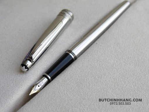 Bút Montblanc Meisterstuck Solitaire Stainless Steel Fountain Pen - 25310980 1683522618360162 7463709453540040442 o 510x383
