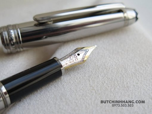 Bút Montblanc Meisterstuck Solitaire Stainless Steel Fountain Pen - 25310995 1683522735026817 6608412126665727379 o 510x383