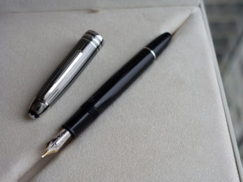 Bút Montblanc Meisterstuck Black and White Solitaire Doue Legrand Fountain Pen - DSC00271 350x263