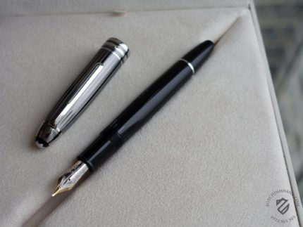 Bút Montblanc Meisterstuck Black and White Solitaire Doue Legrand Fountain Pen - DSC00271 430x323