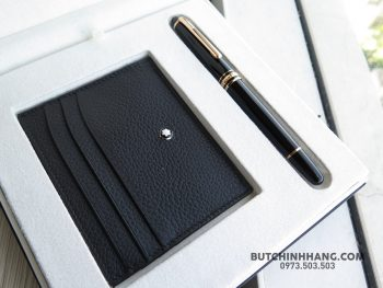 Bộ set bút Montblanc Meisterstuck Classique Red Gold Rollerball Pen & Soft Grain Pocket Holder - 40026871 2031700940208993 6567887954960711680 o 350x263