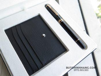 Bộ set bút Montblanc Meisterstuck Classique Red Gold Rollerball Pen & Soft Grain Pocket Holder - 40026871 2031700940208993 6567887954960711680 o 350x263