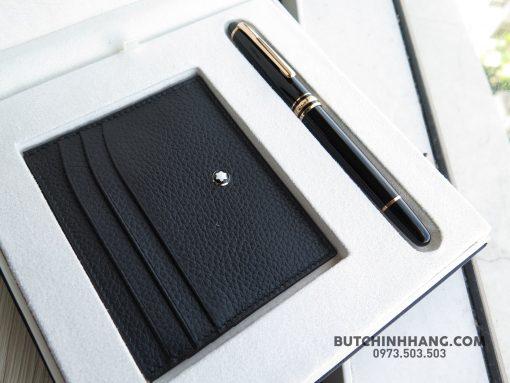 Bộ set bút Montblanc Meisterstuck Classique Red Gold Rollerball Pen & Soft Grain Pocket Holder - 40026871 2031700940208993 6567887954960711680 o 510x383