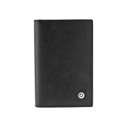 Ví Leather Goods 4810 Westside Business Card Holder - Montblanc Westside Black Leather Business Card Holder 38034 510x510