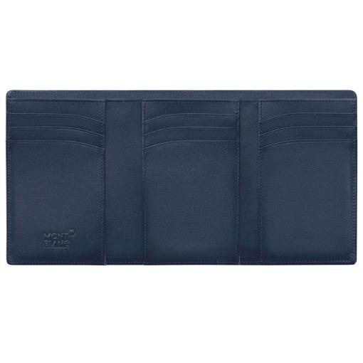 Ví Montblanc Meisterstuck Navy Leather 9cc Business Card Holder 114538 - montblanc meisterstuck kartvizitlik 114538 1 510x510