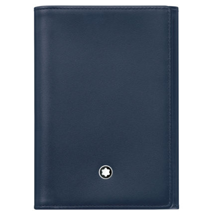 Ví Montblanc Meisterstuck Navy Leather 9cc Business Card Holder 114538 - montblanc meisterstuck kartvizitlik 114538 430x430