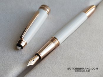 53174634 1584995651634387 8026046136684904448 o 350x263 - Bút Montblanc Meisterstück White Solitaire Red Gold Classique Fountain Pen