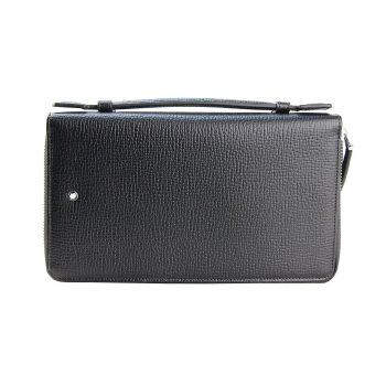 s l1600 1 ok 350x350 - Montblanc Clutch Travel Companion Zipper & Handle 119291 Leather Bag 11cc
