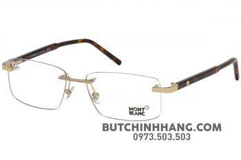 58 1 350x233 - Mắt kính Montblanc Havana Eyeglasses 58