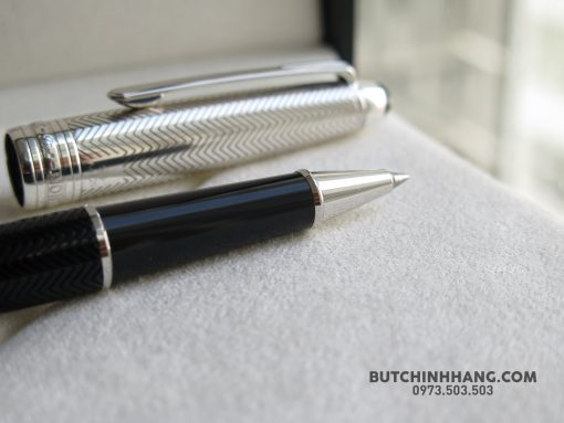 Bút Montblanc Meisterstuck Solitaire Doue Silver Barley Rollerball Pen 105222