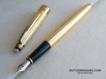 60854443 10156262629108715 1075272112257630208 o 350x263 - Bút Montblanc Solitaire Gold Plated Vermeil Fountain Pen