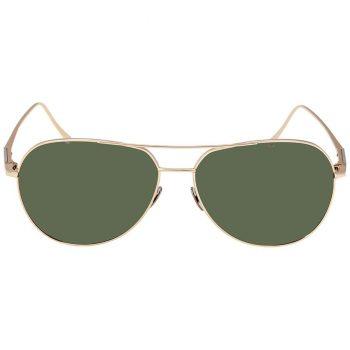 MB657S32Q61 350x350 - Mắt kính Montblanc Green Aviator Sunglasses Q61