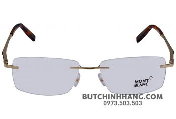 montblanc shiny rose gold mens eyeglasses mb067002856  2 1 1 350x237 - Gọng kính Montblanc Shiny Rose Gold Men's Eyeglasses 670