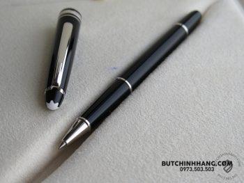 Bộ set bút Montblanc Meisterstuck Classique Platinum Coated Rollerball Pen – Bao Da 112514