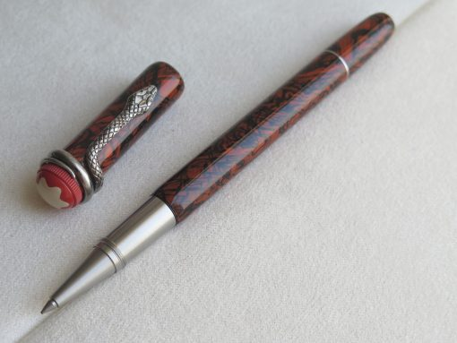 Bút Montblanc Heritage Rouge & Noir Serpent Marble Special Edition Rollerball Pen 119853