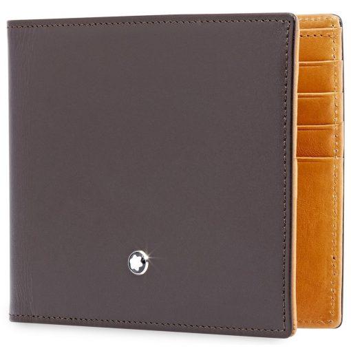 Ví da Montblanc Meisterstuck Leather Goods Brown – Tan Wallet 8cc 118299