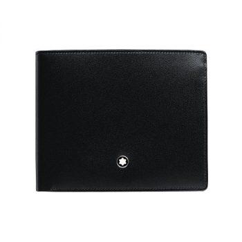 Ví da Montblanc Meisterstuck Black Leather Goods 6cc With 2 View Pocket 16354