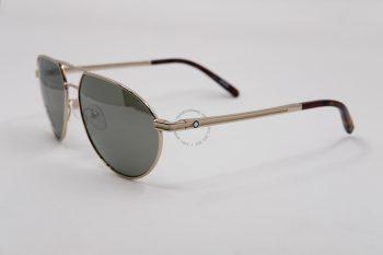 Kính mát Montblanc Aviator Sunglasses MB714S 32Q Gold/Havana 59mm