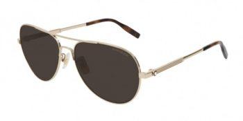 Kính mát Montblanc Pilot Sunglasses MB0027S 008 Gold/Havana 60mm 0027