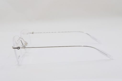 Gọng kính Montblanc Rimless Silver Eyeglasses 00750