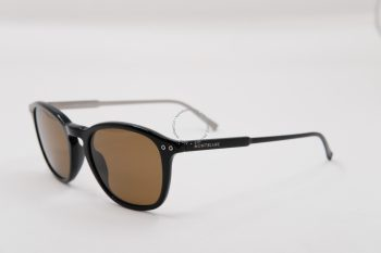 Kính mát Montblanc Round Sunglasses Black Polarized MB599S