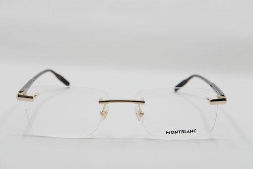 Gọng kính Montblanc Rimless Gold Havana Eyeglasses MB0088O