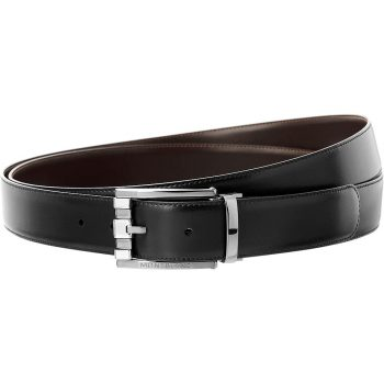 Thắt lưng Montblanc Casual Line 3 Rings Ruth Shiny Pin Leather Belt 103445