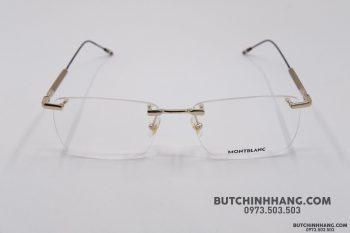 Gọng kính Montblanc Rimless Gold Eyeglasses Mb0049O
