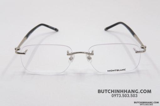Gọng kính Montblanc Rimless Silver Eyeglasses MB0071O