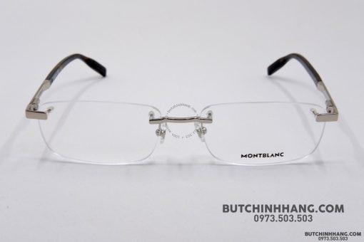 Gọng kính Montblanc Rimless Silver Eyeglasses 00230