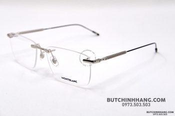 Gọng kính Montblanc Rimless Silver Eyeglasses Mb0049O
