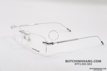 Gọng kính Montblanc Rimless Silver Eyeglasses MB0112O