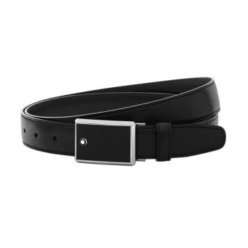 Thắt lưng Montblanc Leather Goods Black Saffiano Leather Belt 114421