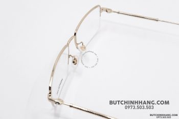 Gọng kính Montblanc Semi – Rimless Gold Plate MB0113O