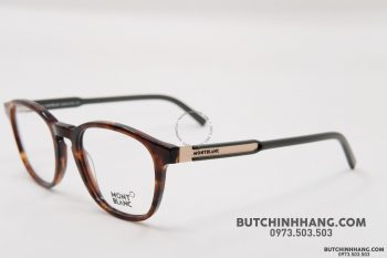 Gọng kính Montblanc Oval Eyeglasses Dark Havana/Green/Bronze MB632