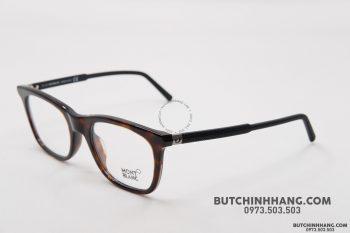 Gọng kính Montblanc Rectangular Eyeglasses Havana/Black MB610