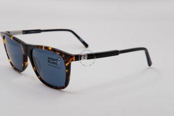 Kính mát Montblanc Rectangular Sunglasses Vintage Havana/Black MB647S