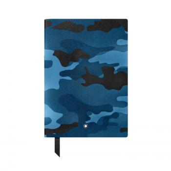 Sổ da Montblanc Camouflage Blue Leather Notebook 118821